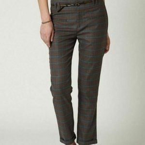 Anthropologie Cartonnier 0 Plaid Cropped Trousers
